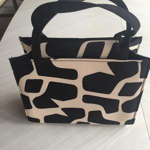 Handbags - Women's animal print fabric handbag
